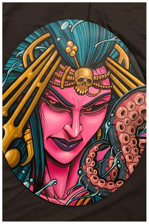 Image of soggy sea sorceress art drawings graffiti art