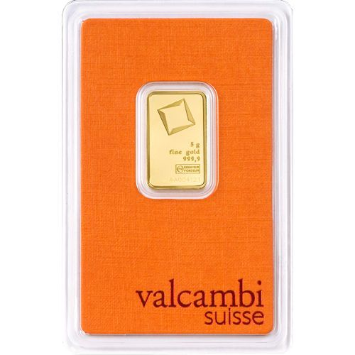 5 Gram Valcambi Gold Bar New W Ay