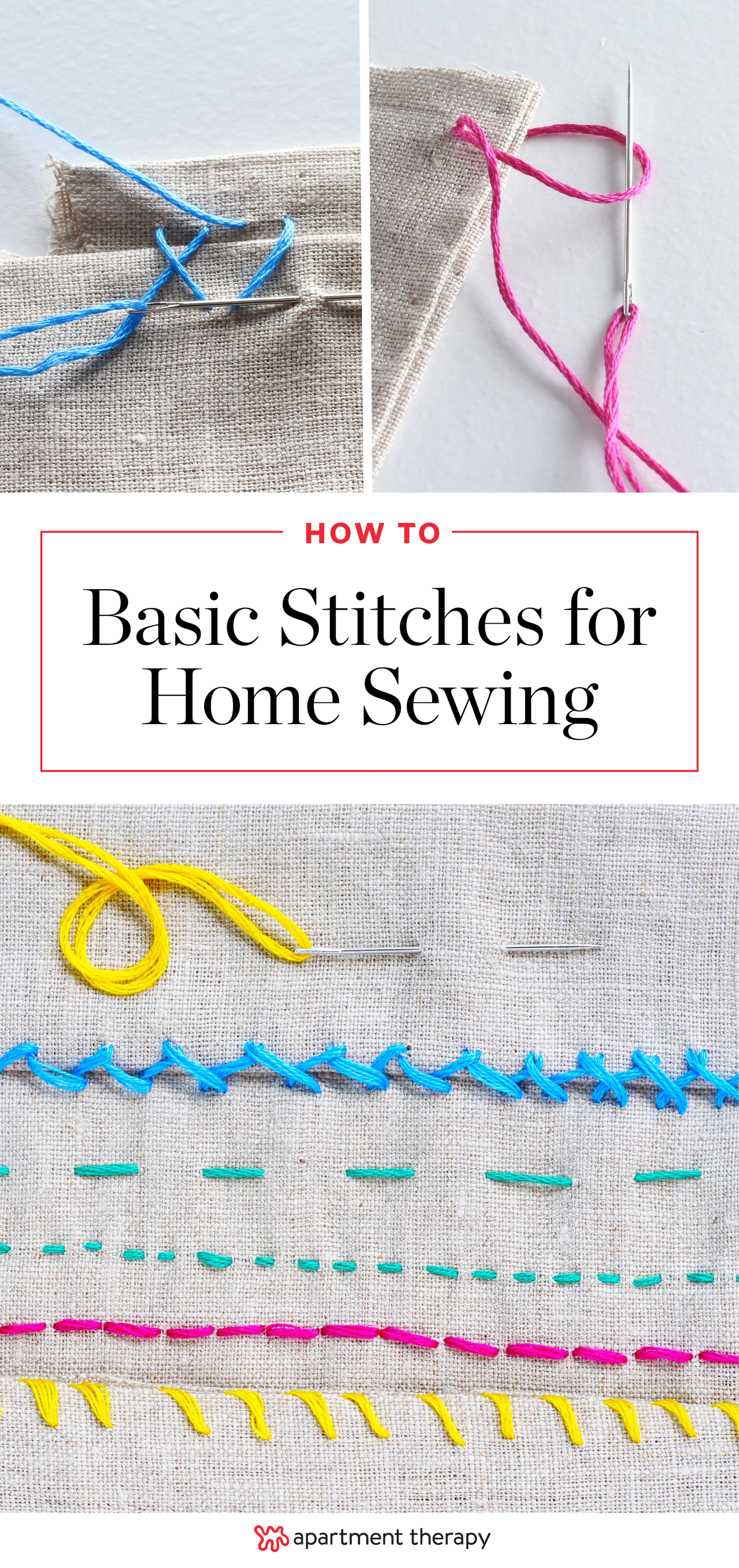 6 Helpful Stitches for Home Sewing Projects | Pinterest | Apartment ...