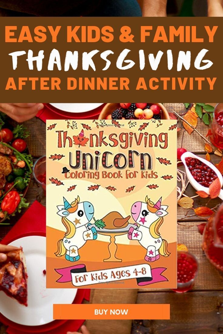 This cute unicorn Thanksgiving coloring book is perfect ...