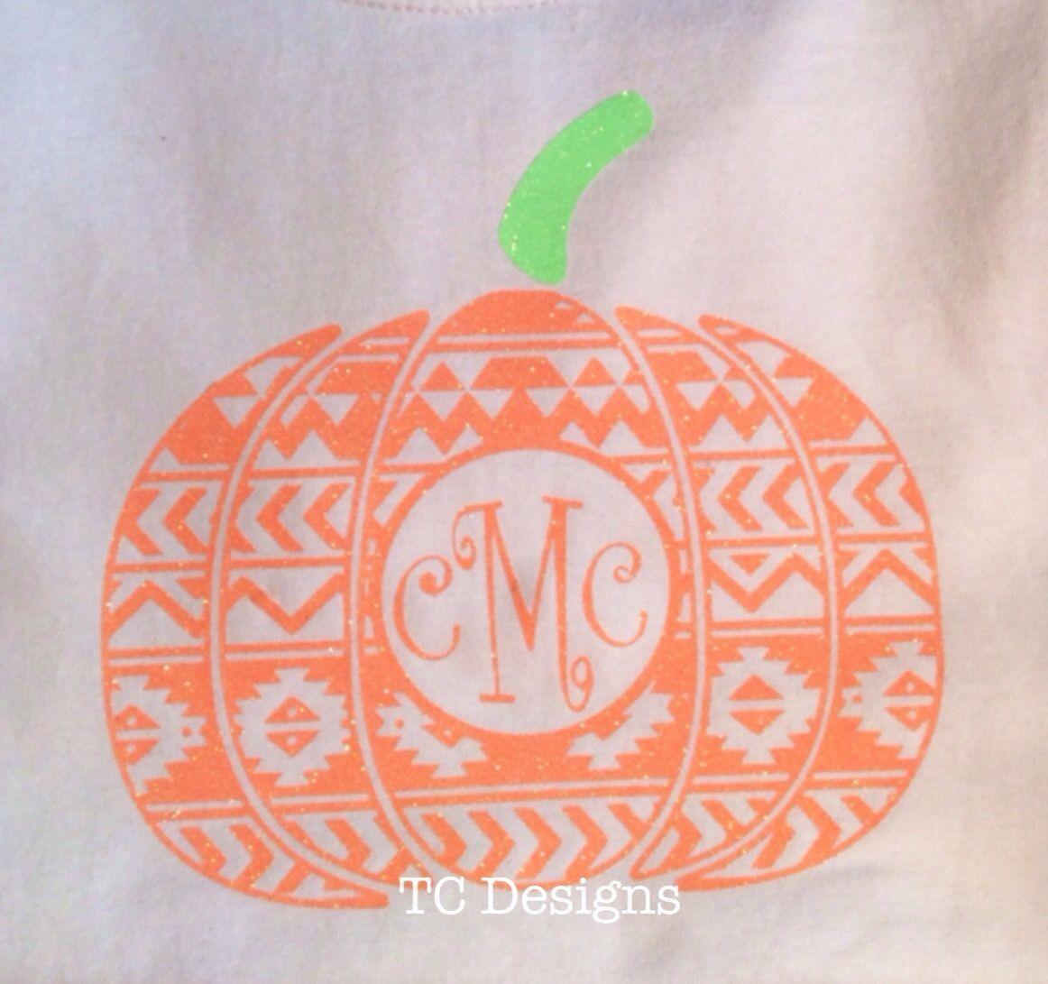 Fall sale Aztec pumpkin monogram shirt