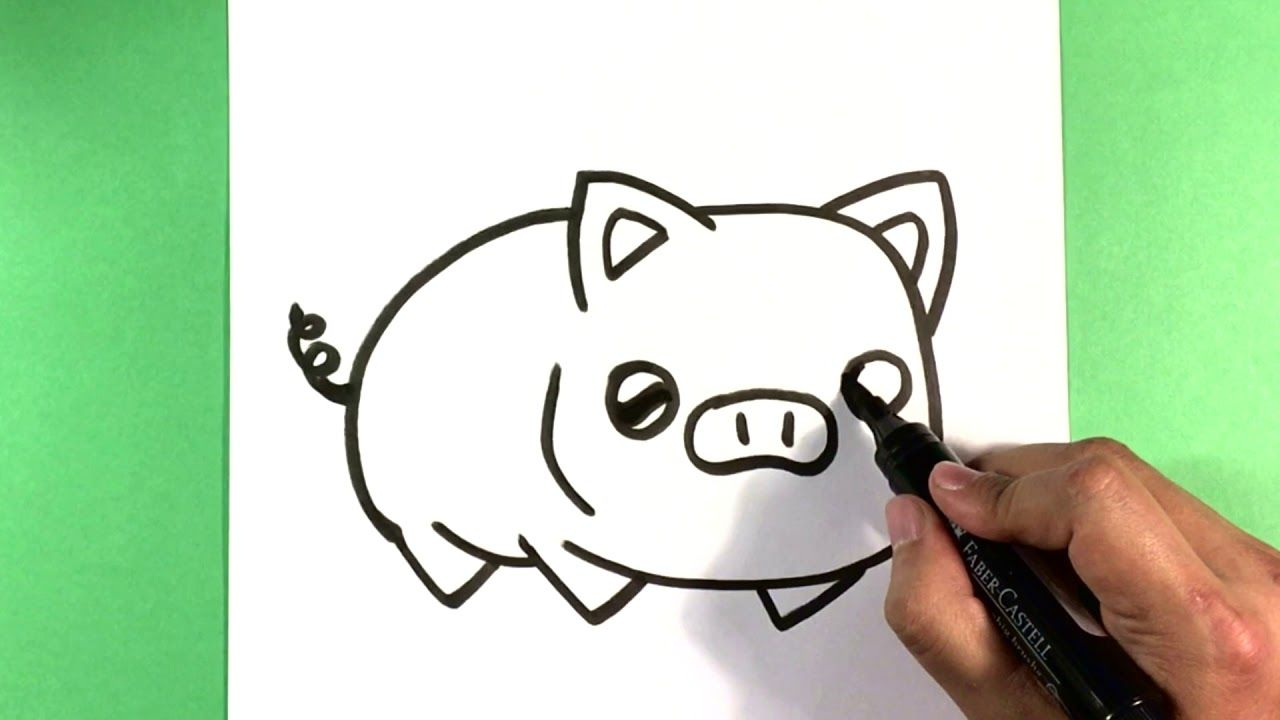 How To Draw A Pig For Beginners Cute Animals To Draw For Fun
