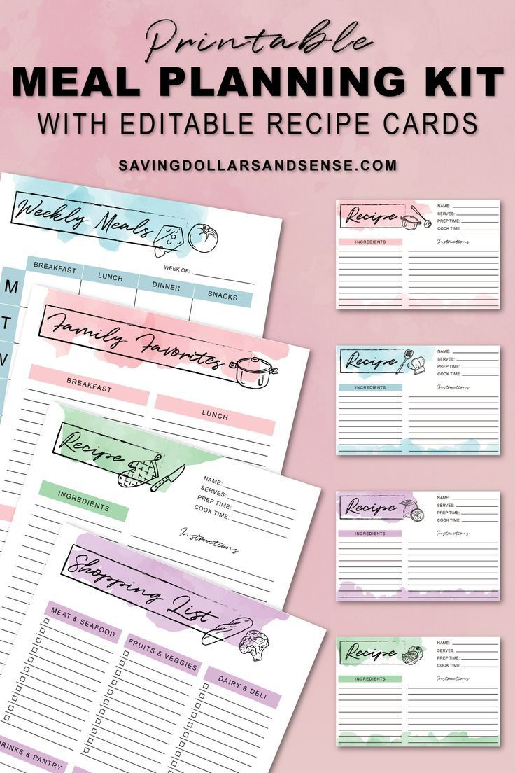 Free Printable Meal Planner My Gift to YOU Meal