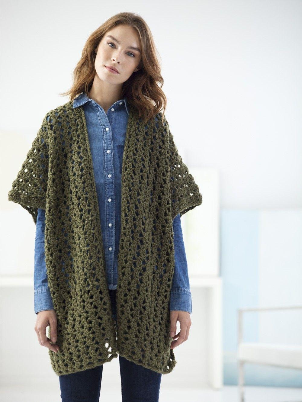 Darlington Ruana (Crochet)   Crocheting   Pinterest   Crochet, Shawl ...