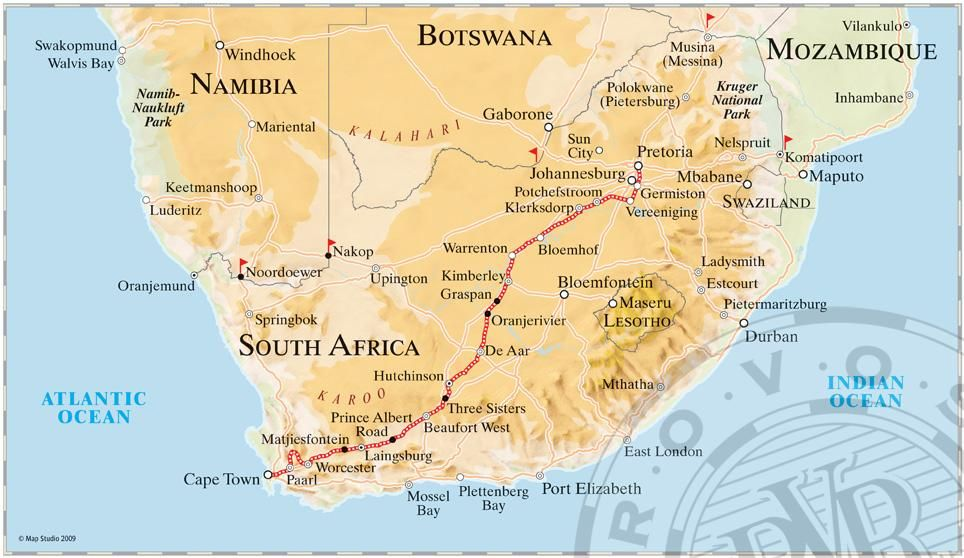 route map of south africa Route Maps Luxury Train South Africa Map Train Tour route map of south africa