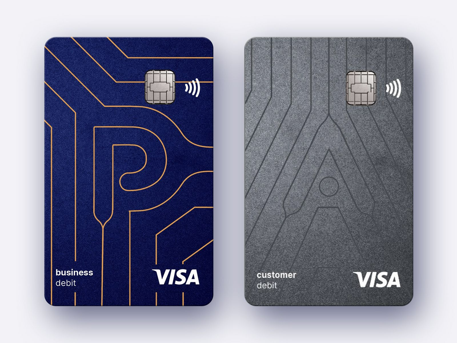 Card branding for fintech company in 2020 with images