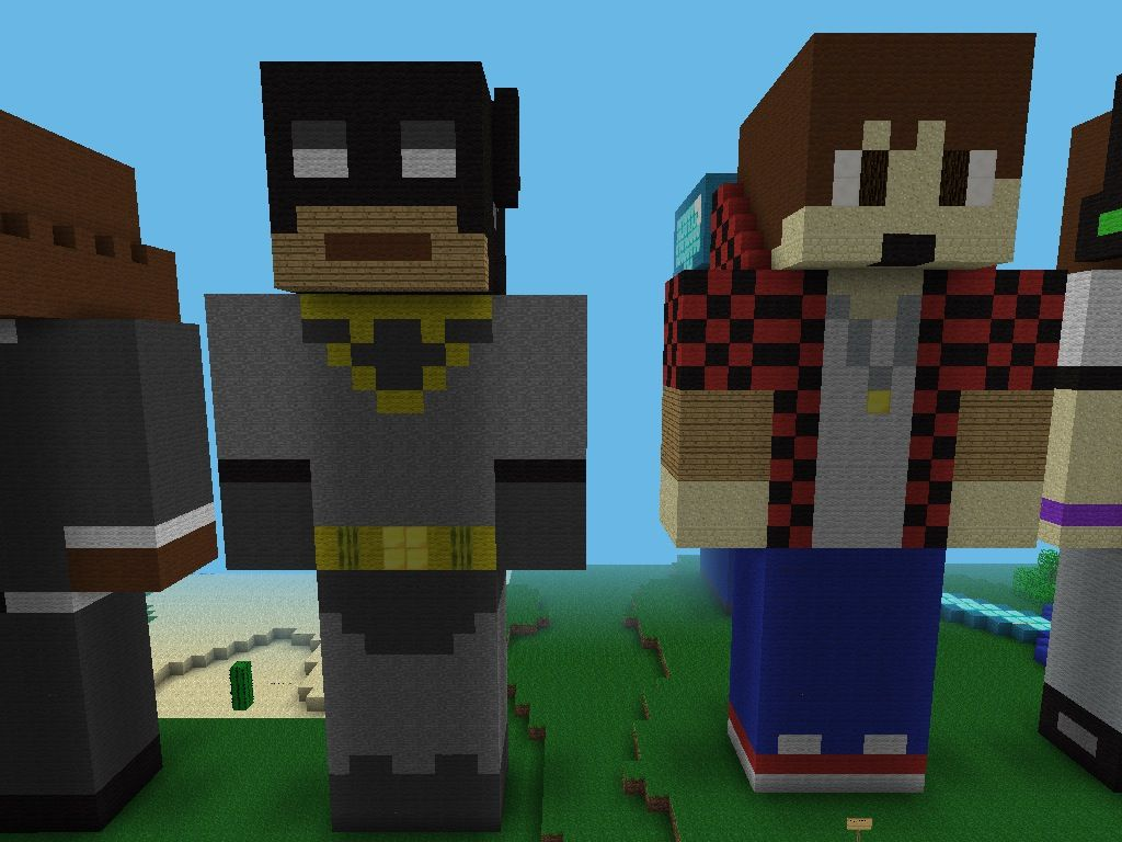 xrpmx13 and bajancanadian statues my minecraft builds