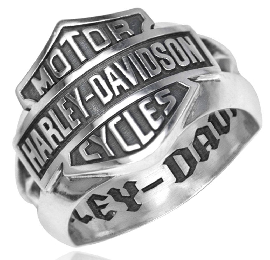 Harleydavidson 925 silver bs decorative band mens ring