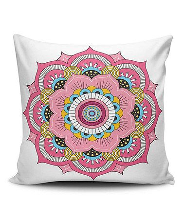 Another great find on #zulily! Rose Mandala Throw Pillow Cover ...