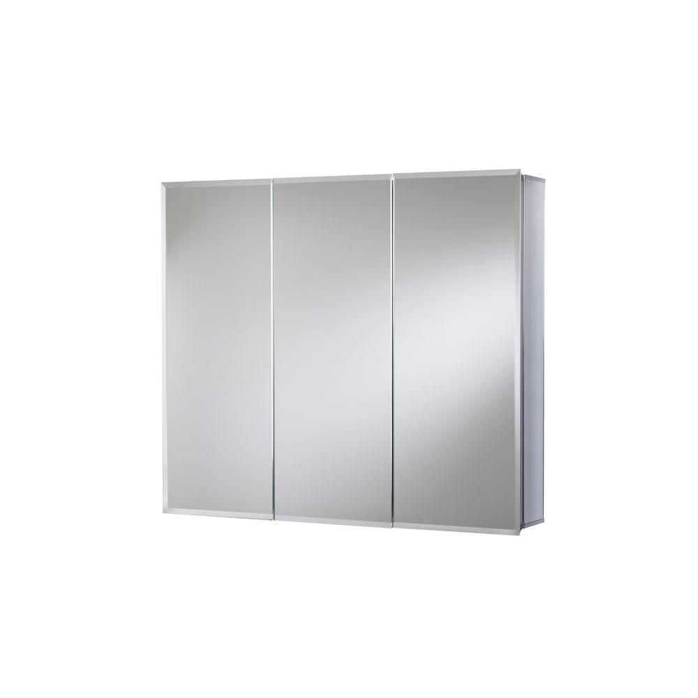 Croydex 30 in. W x 26 in. H Frameless Aluminum Recessed or Surface ...