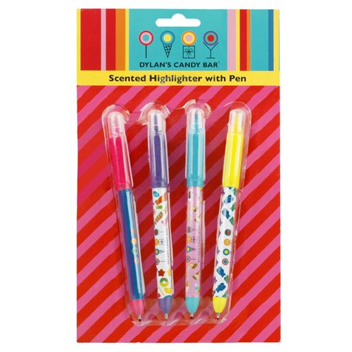 Dylan's Candy Bar Scented Highlighters with Pen | Lifeguard Press  I always need cute highlighters, why not at least up the ante and have cute ones?