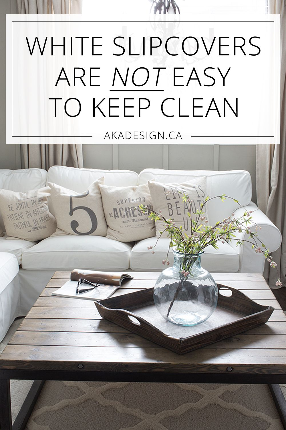 White slipcovers are not easy to keep clean interiors pinterest