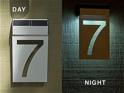 SolarPowered House Number Light Exterior Design House numbers