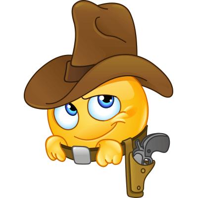 Resultado de imagen de emoticones para compartir de cowboy