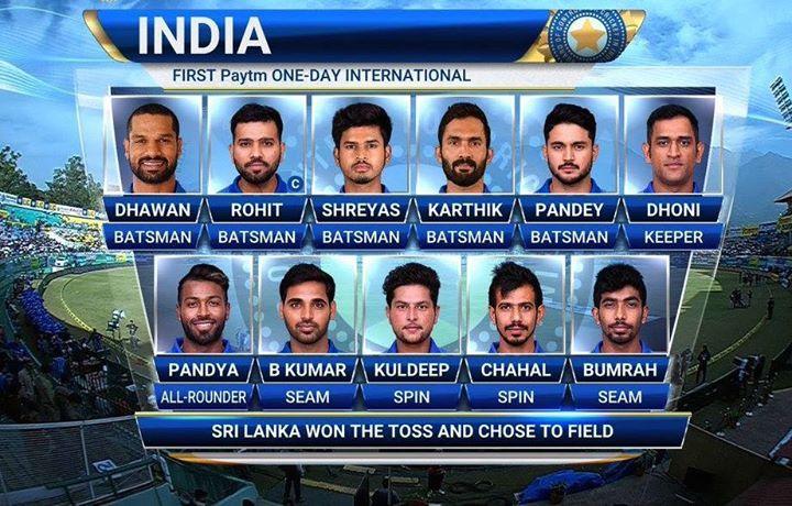 Here S The Playing 11 For Team India In The 1st Odi Against Sri Lanka Indvsl Http Ift Tt 1zz3e4d Latest Cricket News Cricket News Sri Lanka