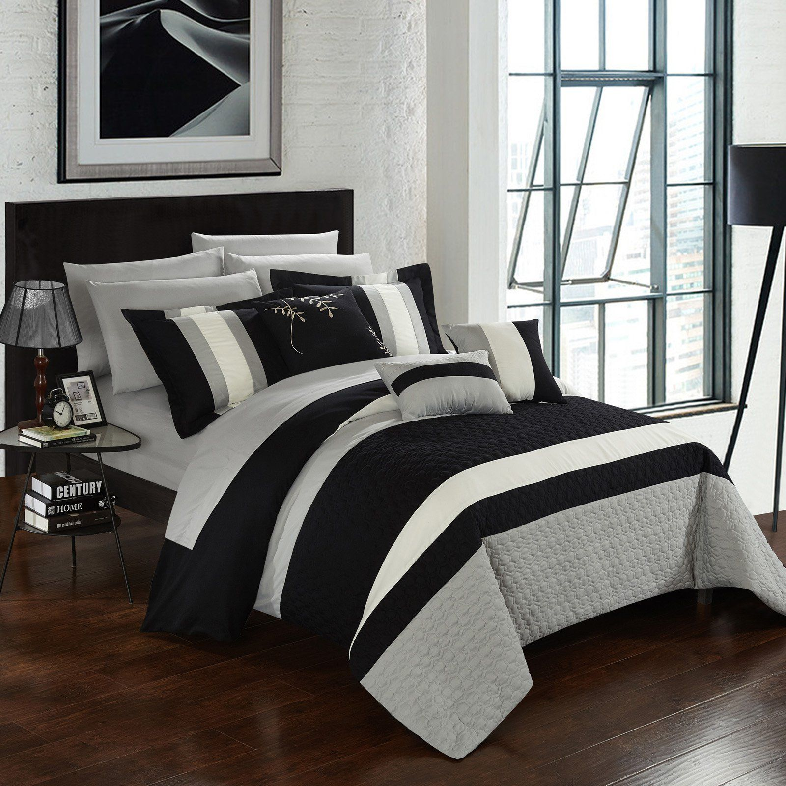 Chic Home Jared Bed In A Bag Comforter Set Black Products In