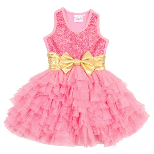 Ooh La La Couture Girls Toddlers Pink And Gold Pink Lady Wow Dream Dress Girls Couture Girl Outfits Ooh La La Couture