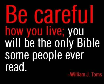 Only Bible some people will ever read