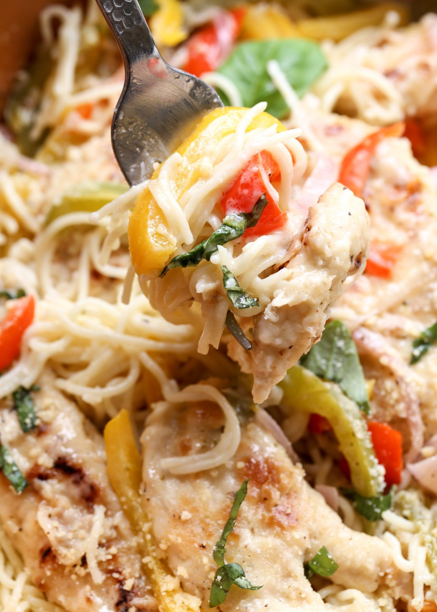 Chicken scampi recipe with peppers, and a wine scampi
