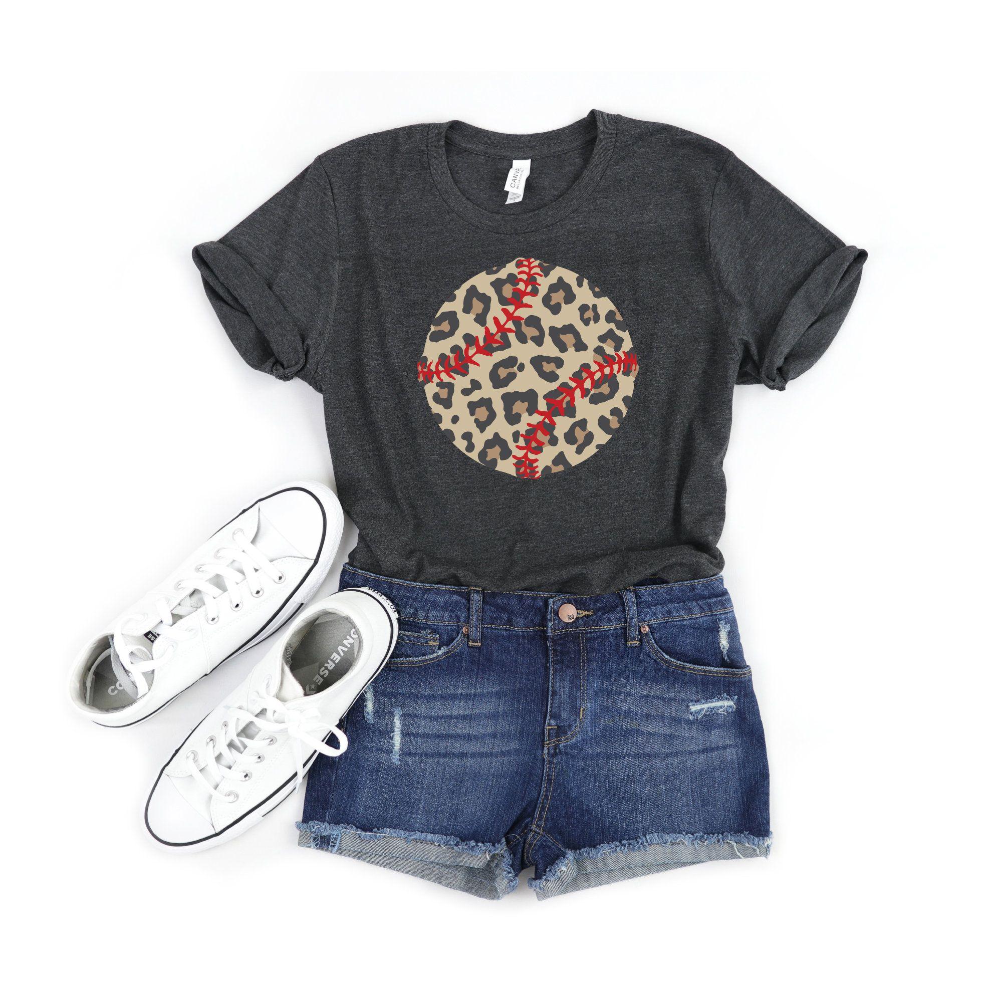 Softball Softball Mom Softball Shirt Leopard Print Mom Shirt Sports Mom