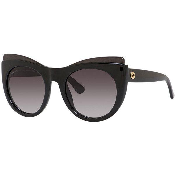 8ab49c68a0d9c Gucci Capped Gradient Cat-Eye Sunglasses (8