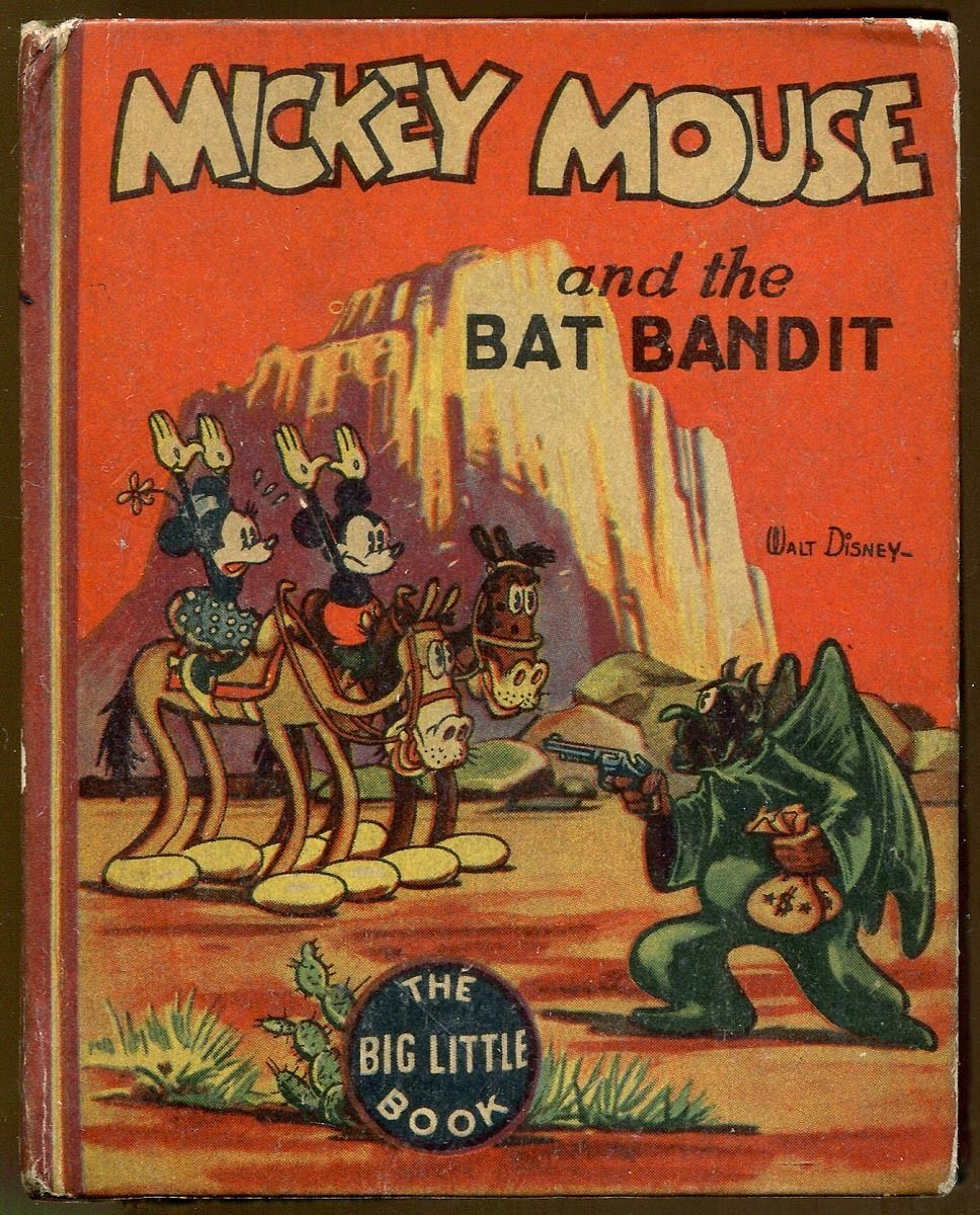 Details about walt disneys mickey mouse and the bat
