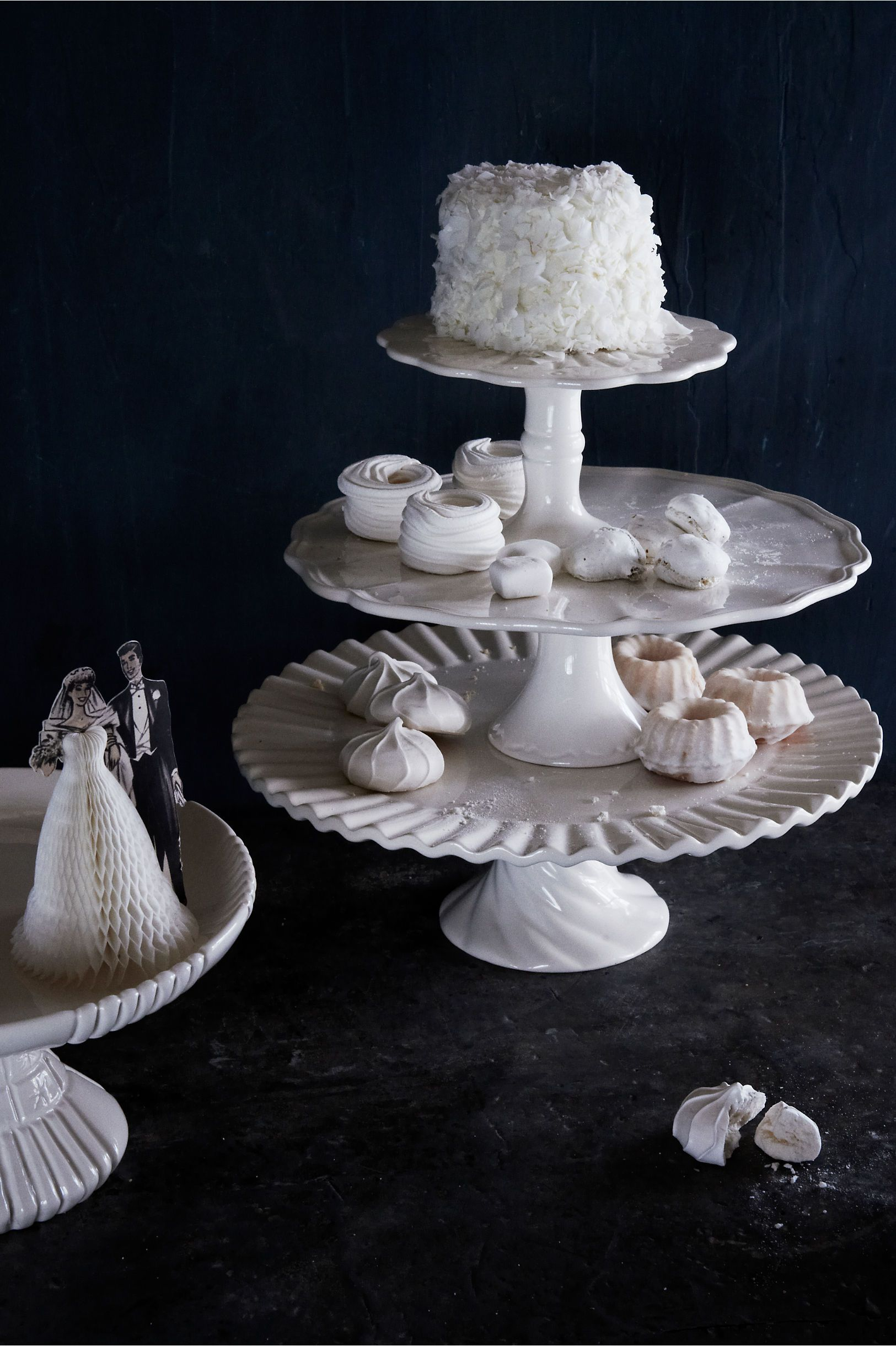 Royal icing cake stands from bhldn our winter wedding pinterest