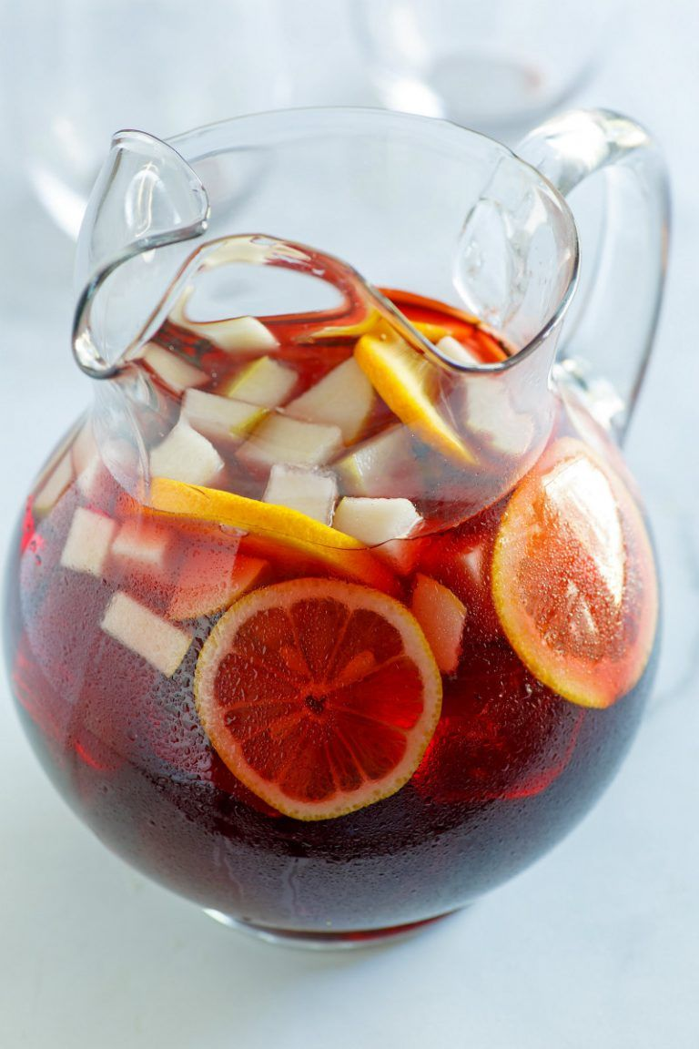 Winter Spiced Red Wine Sangria Recipe Red Wine Sangria Sangria Wine Cheese Party