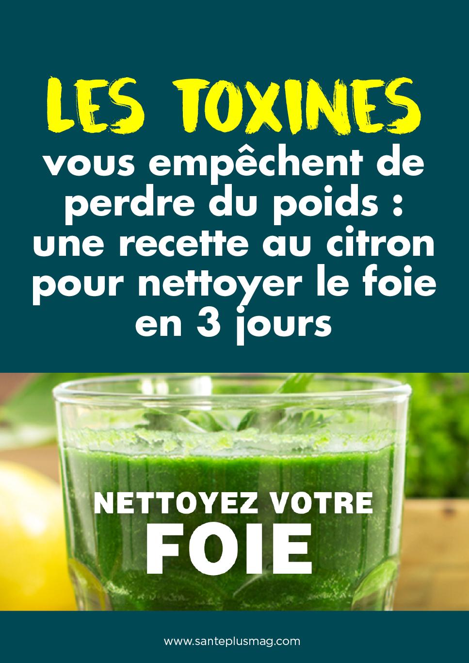Les toxines vous empêchent de perdre du poids : une