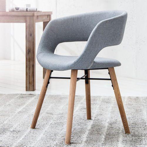 Design stuhl grau nordic star eiche lehnstuhl for Stuhle nordic design