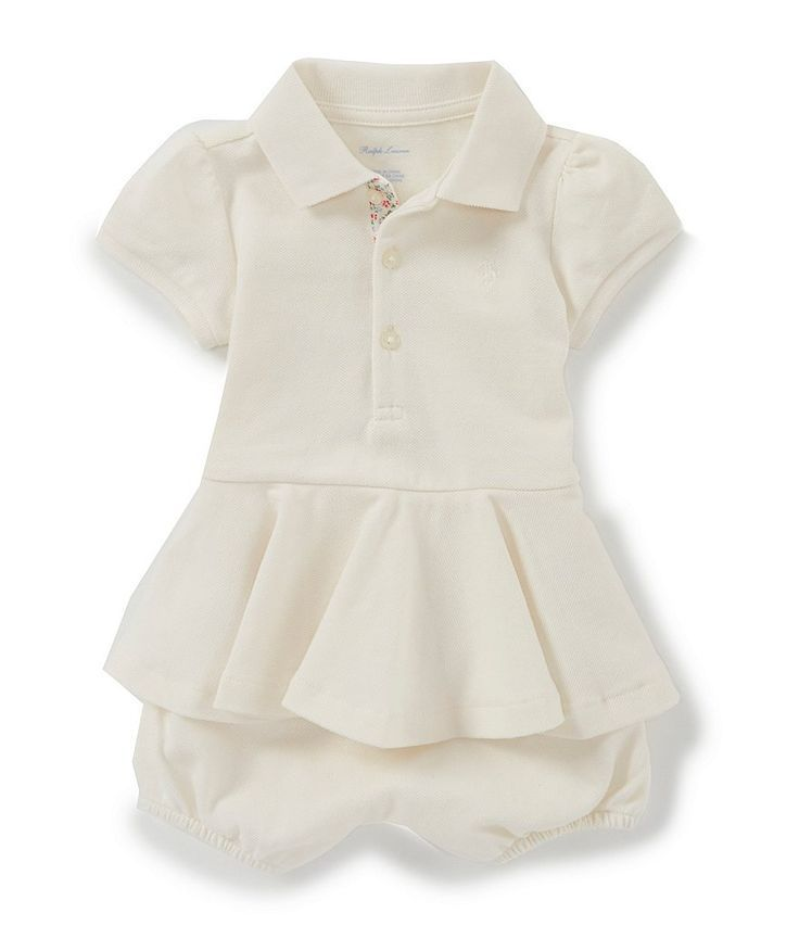 Ralph Lauren Polo Kids Baby Childrenswear Baby Girls/' Striped Gauzy Dress NEW