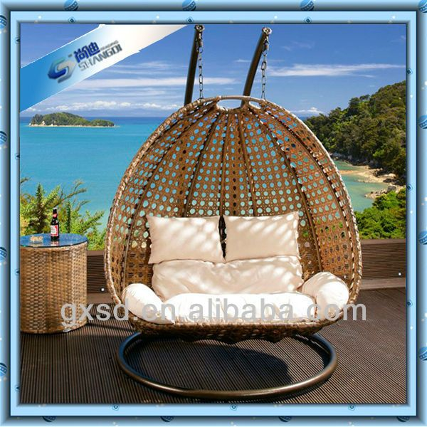 Couples Lovers Rattan Swing Egg Chair Hanging Garden Chair Outdoor Hammock Chair Hanging Chair Outdoor