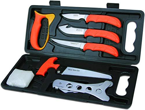 Photo of New OUTDOOR EDGE WildPak Complete 8-Piece Hunting Knife Kit  Field Dressing Game, Compact Lightweight Case, Blaze-Orange High Visibility Non-Slip Handles, Full Tang Razor-Sharp Stainless Blades online – Greatstylegreatshop
