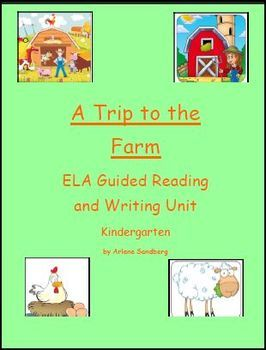 This is an ELA Guided Reading and Writing Unit for Kindergarten and Struggling Readers in 1st grade.