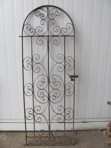 Wrought Iron Garden Gate Puerta Bodega With Images Wrought