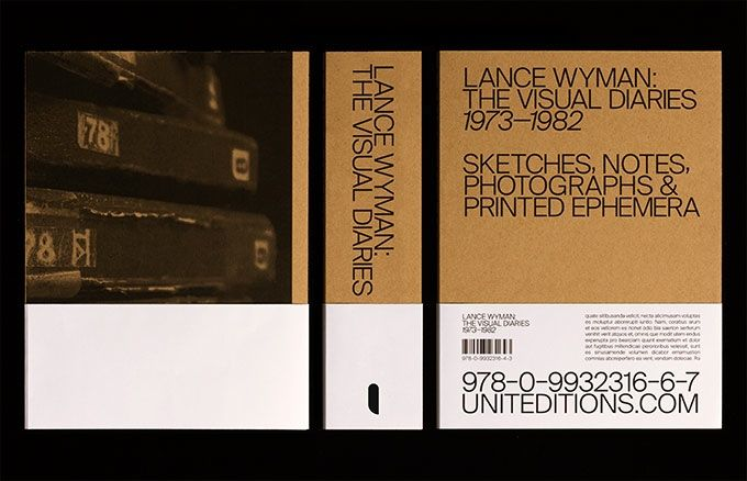 Mock up of Lance Wyman: The Visual Diaries 1973—1982