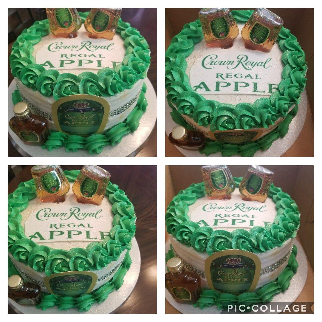 Apple Crown Royal Cake Edible Logo Apple Crown Miniatures