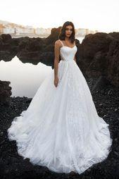 Wedding dress Somalia by BlammoBiamo collection Ocean Dream Sleeveless straps