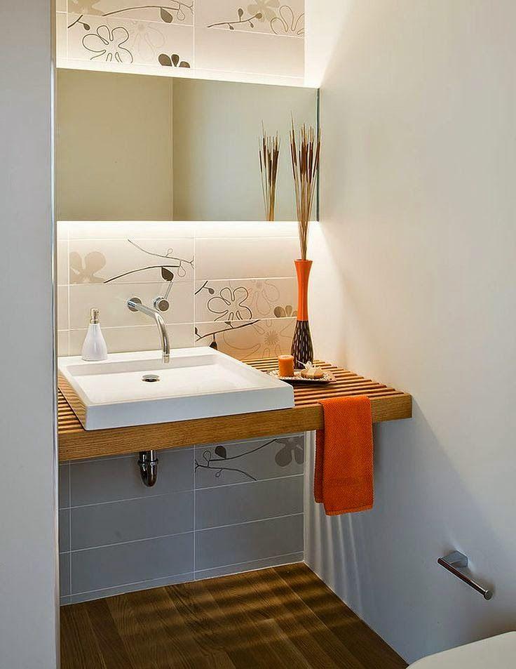 Banheiros e lavabos pequenos Light tricks Pinterest Washroom - lavabos pequeos
