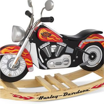 Harley davidson rocking horse whoa cool toys for Scooter rocking horse