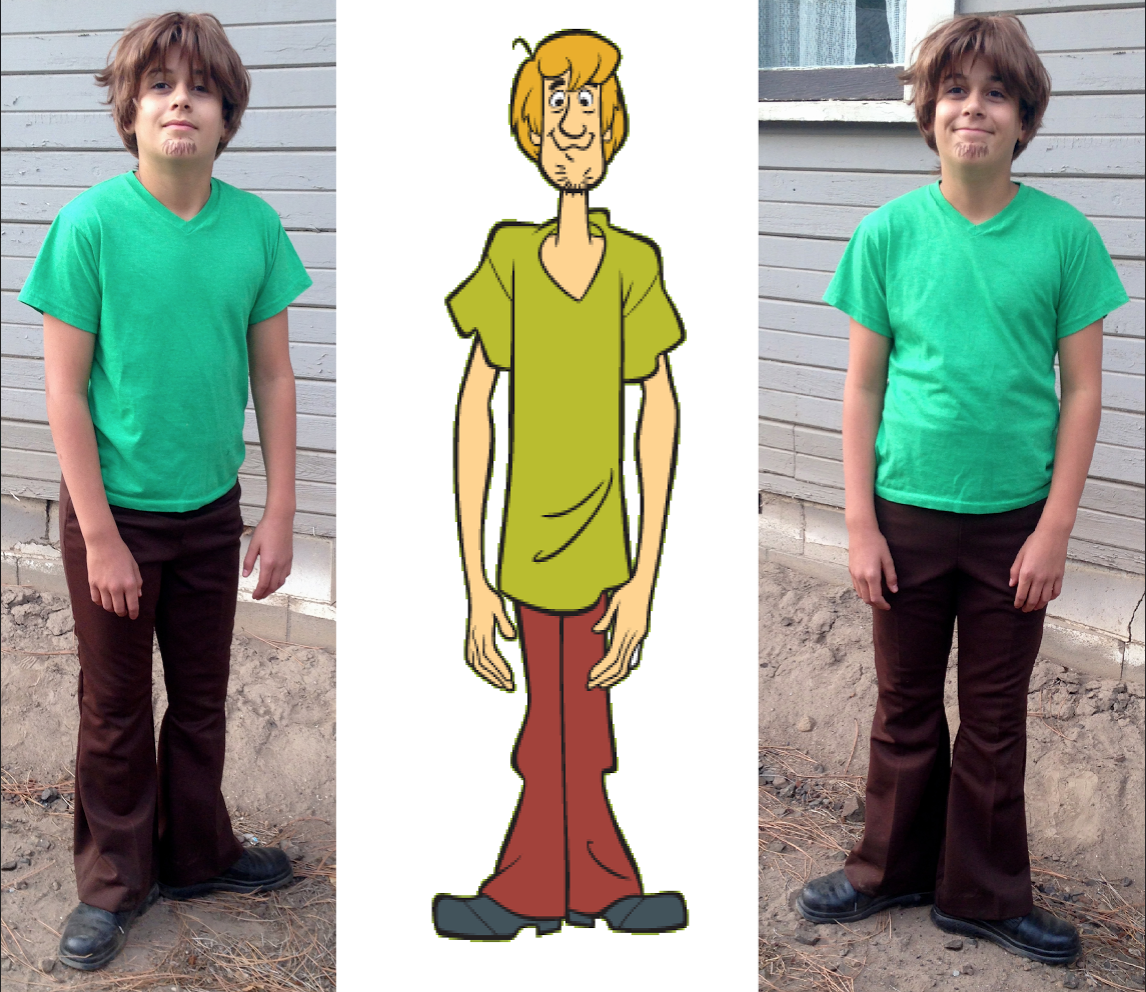 the diy shaggy costume i made for my brother! we all dressed up as