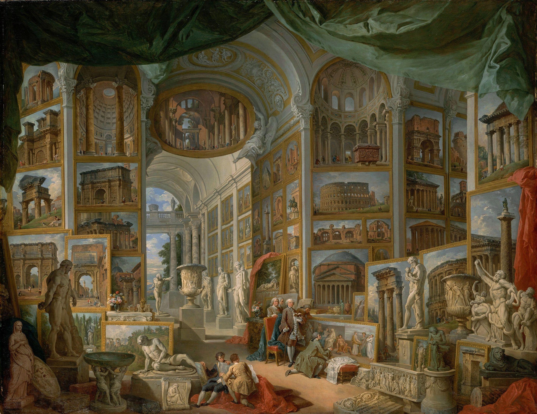 Unique Bildergalerie des antiken Rom Gem lde von Giovanni Paolo Pannini