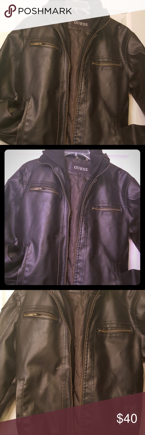 Guess Leather Jacket Jackets Leather Jacket Leather [ 1740 x 580 Pixel ]
