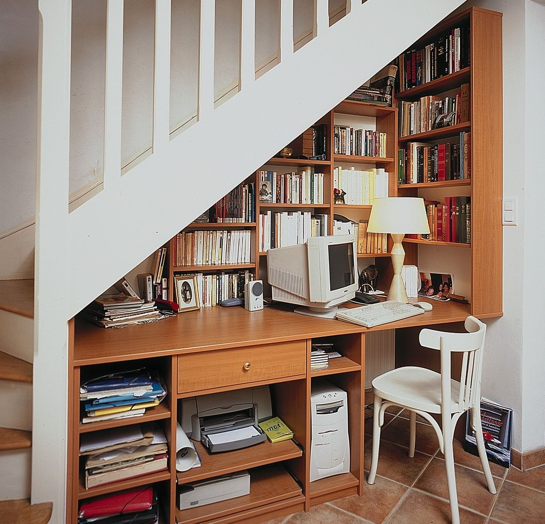 D coration bureau sous escalier recherche google idee deco maison pinterest bureau - Amenagement bureau sous escalier ...