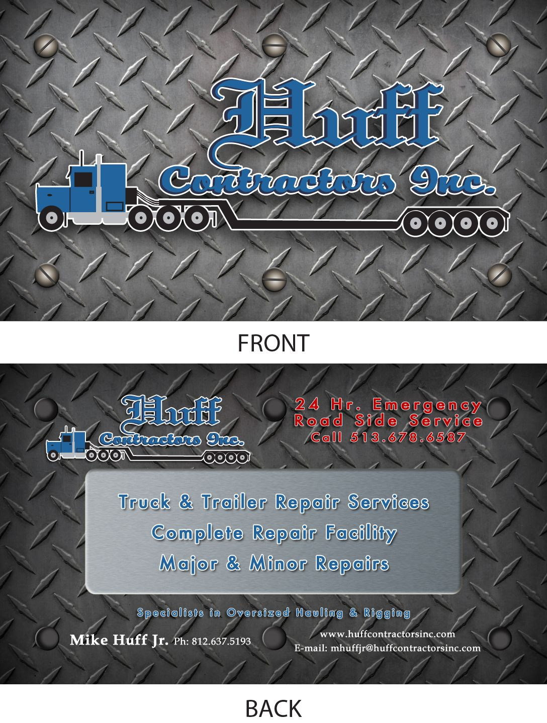 Business Cards. These were designed for a trucking hauling company ...