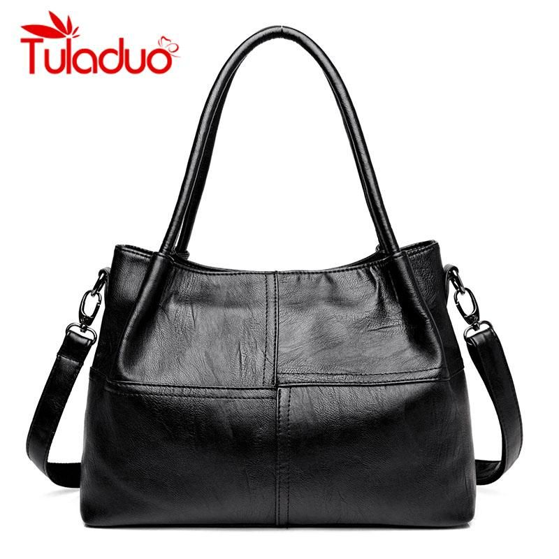 66f4447aa2 Tuladuo Luxury Handbags Women Bags Designer Leather Female Stitching ...