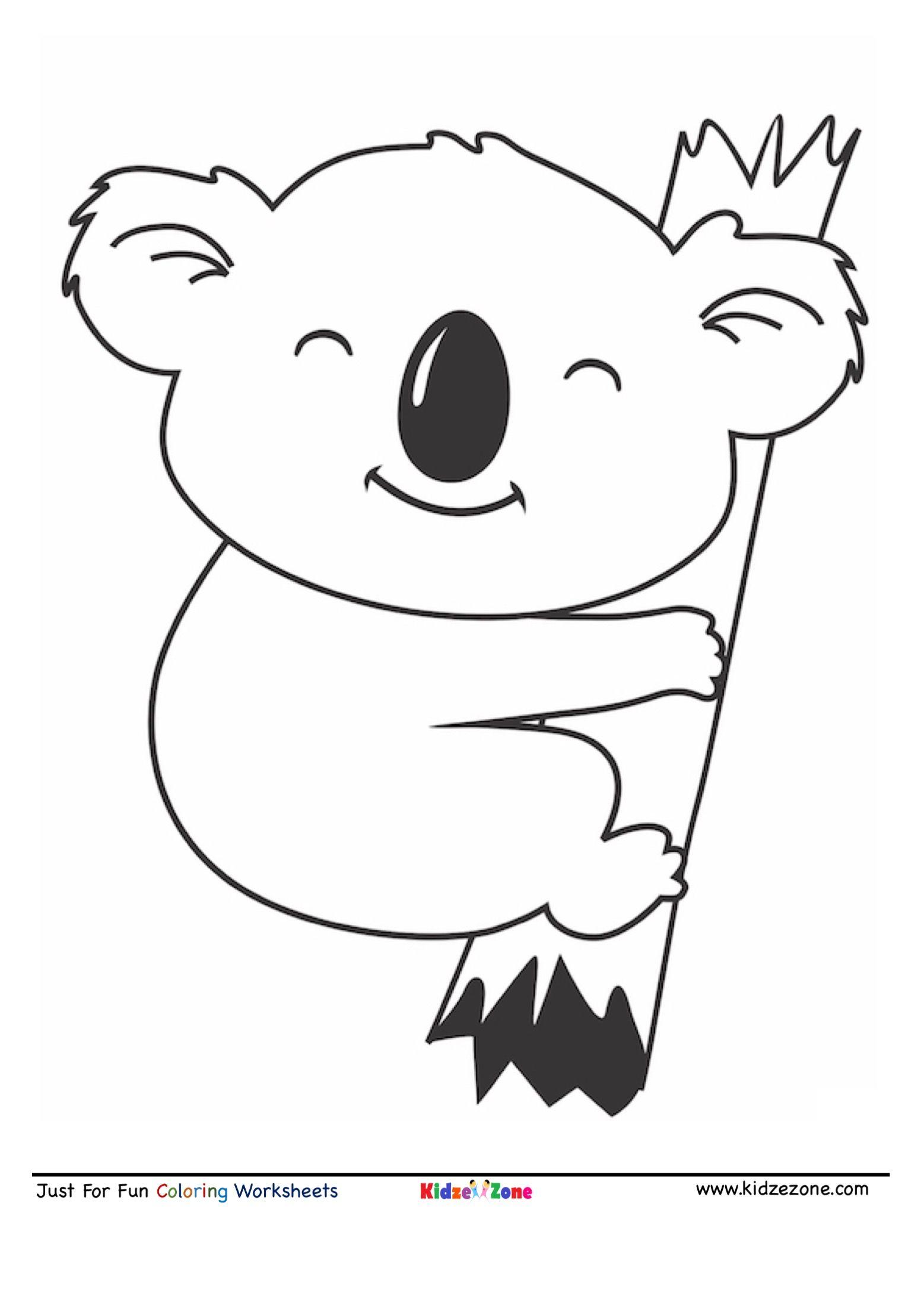Cute Koala Coloring Page Koala