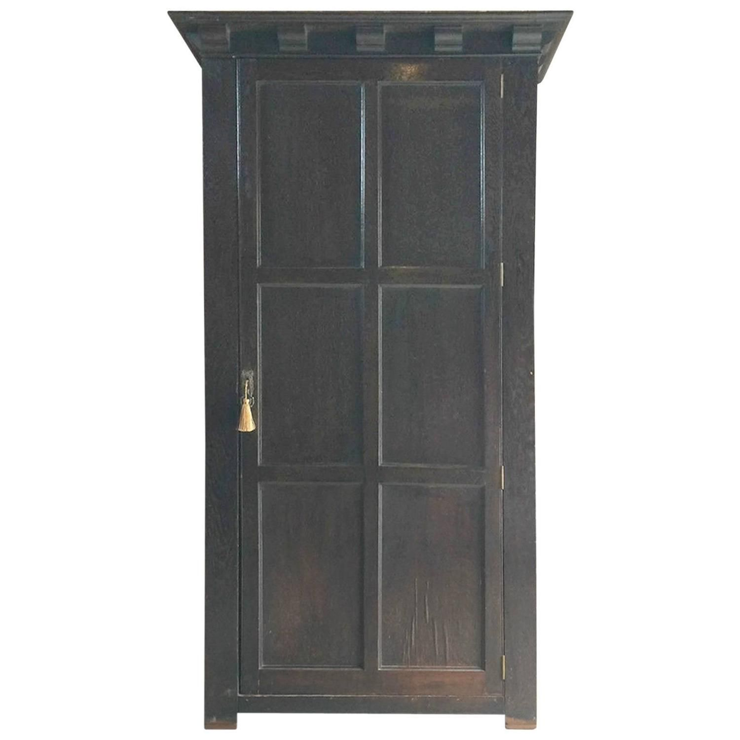 495 Antique Single Wardrobe Armoire One