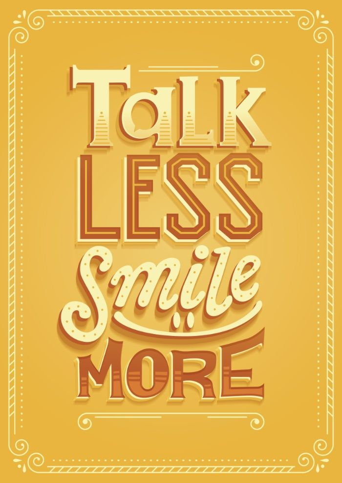 Talk less smile more by risa rodil buy print and stuff stickers apparel tapestry