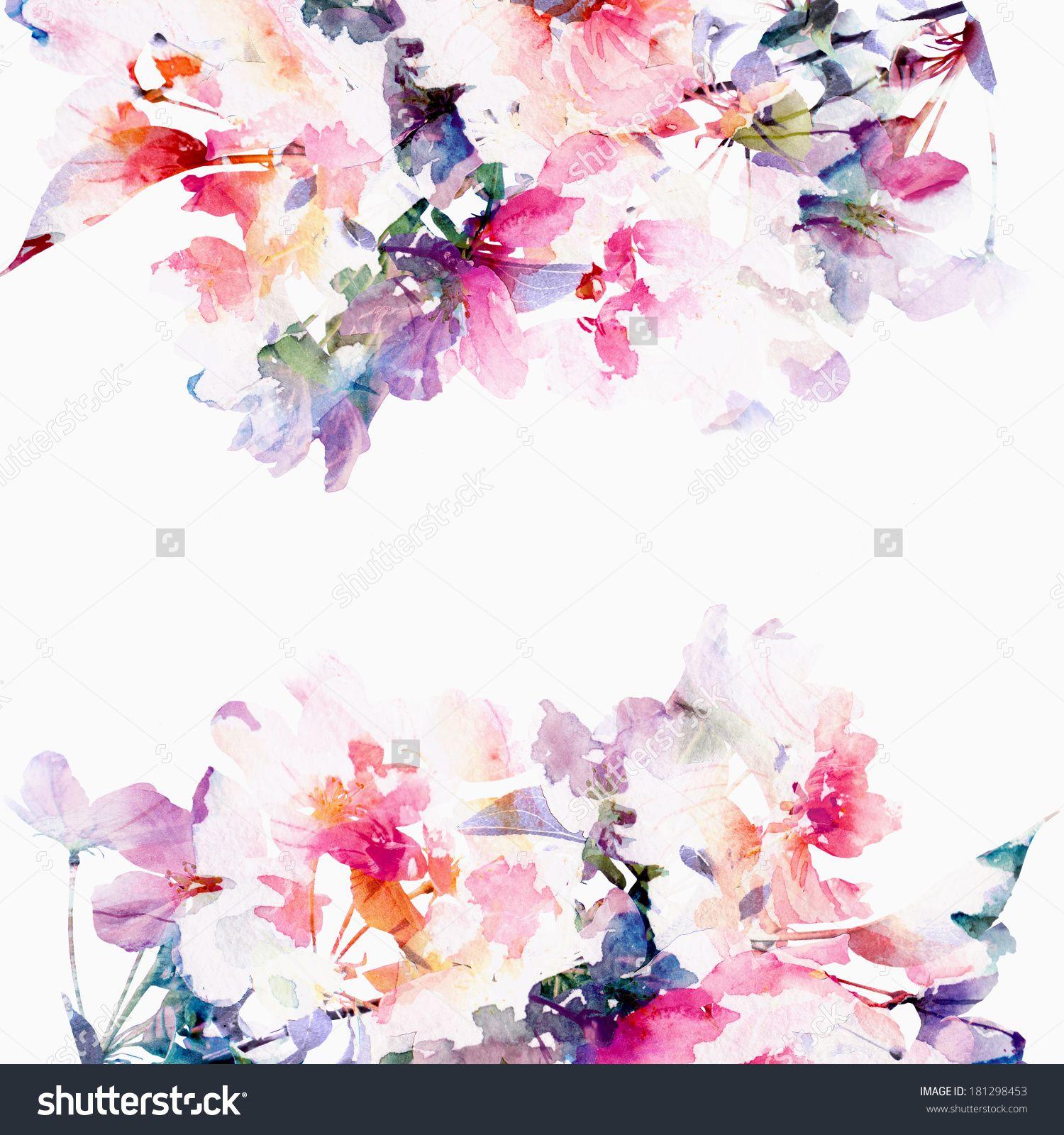 Floral Background. Roses. Watercolor Floral Bouquet